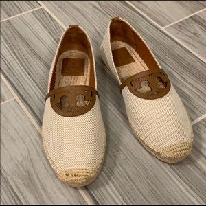 Tory Burch Sidney Espadrille Canvas/Calf Leather